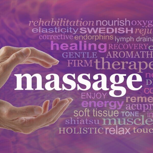 Enjoy the benefits of massage - Female hands gently cupped aroun